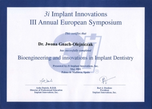 Bioengineering and innovations in Implant Dentistry