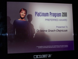 PLATINUM PROGRAM PREFERRED AWARD